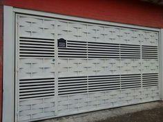 portão com detalhes semi fechado - Portão Automático Pirituba