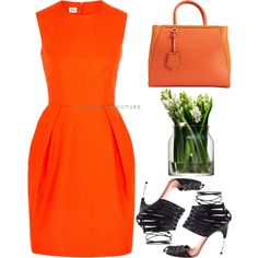 """RED vs ORANGE: Knockout Punch"" by baboushkacouture on Polyvore"