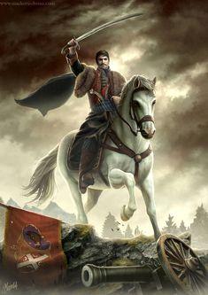 "~~} ""Karadjordje, leader of The First Serbian uprising, by Dušan Marković"""