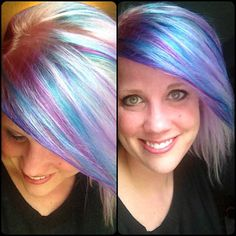 Hair fun with CHI #Chromashine colors #CHIColor