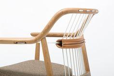 The YC1 chair, part of the Yamanami collection, was designed by Tokyo-based Mikiya Kobayashi for Takumi Kohgei.
