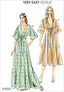 Vogue Easy SEWING PATTERN V8876 Misses Dress 8-16 Or 16-24