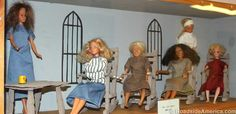 Glore Psychiatric Museum - St Joseph MO - Diorama of a typical 1960s mental hospital ward features a straitjacket Barbie.