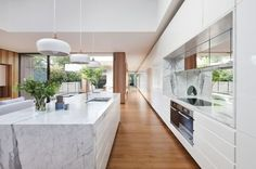 Residential Design finalists in the 2015 Australian Interior Design Awards. Australian Interior Design, Interior Design Awards, Interior Design Kitchen, Interior Styling, Victorian Terrace House, Courtyard House, Style At Home, Open Plan Kitchen Living Room, Nice Kitchen