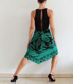 Emerald Black Tango Dress Social dance Party от CrinolinAtelier