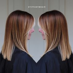 Copper to blonde ombré by @tiffanymhair