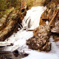 Winter at Campbell Falls #waterfalls Norfolk, CT www.manorhouse-norfolk.com