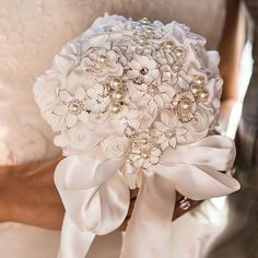 Treasure this Handmade Bridal Bouquet forever, unlike a live flower bouquet you will be able to pass this heirloom onto your great grandchildren.