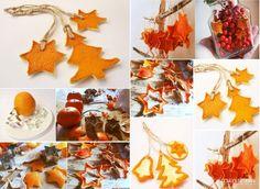 Met gedroogde sinaasappel schijfjes en schillen maak je leuke en lekker geurende decoratie... 9 zelfmaakideetjes! - Zelfmaak ideetjes