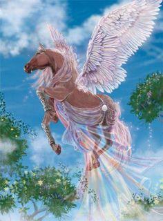 Nike from Bella Sara, Pegasus Unicorn And Fairies, Unicorn Fantasy, Unicorn Horse, Unicorn Art, Fantasy Art, Magical Creatures, Beautiful Creatures, Pegasus, Art Pastel