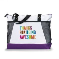 Thanks for Being Awesome Sport Tote from Successories Bags & Totes. This sporty eye-catching Thanks for All You Do tote. Employee Appreciation Gifts, Employee Gifts, Baby Boy Art, 70th Birthday Gifts, Business Gifts, Corporate Gifts, Thank You Gifts, Teacher Gifts, Best Gifts