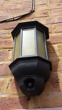 found that the power cable to this light is cut! (see the bottom of the fitting). Need to replace to get a little lighting in the garden.  night bright solar powered LEDs might be a nice fit. Need to look for recommendations
