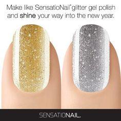 Shop SensatioNail on our website! http://www.sensationail.com/  #GoldGlitter #SilverGlitter