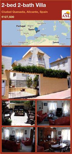 2-bed 2-bath Villa in Ciudad Quesada, Alicante, Spain ►€127,500 #PropertyForSaleInSpain