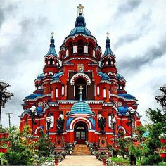 Journey through the fabulous and beautiful Russia! A bright journey through the country with extraordinary architecture! Sacred Architecture, Russian Architecture, Religious Architecture, Church Architecture, Beautiful Architecture, Unique Buildings, Amazing Buildings, Cathedral Church, Church Building