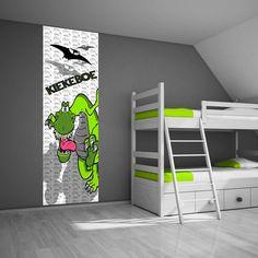 Zelfklevend muurdecoratie paneel: Dinosaurus
