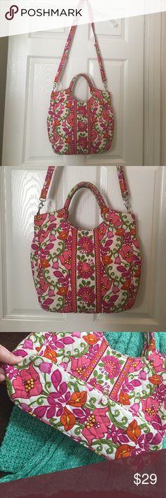 Selling this Vera Bradley Two-way Tote in Lilli Bell on Poshmark! My username is: loveandpeace17. #shopmycloset #poshmark #fashion #shopping #style #forsale #Vera Bradley #Handbags