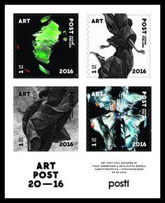 Art Post II -pienoisarkki on jatkoa syksyn 2015 julkaisuun. Merkkien taiteilijat…
