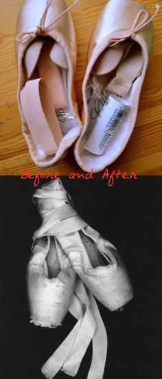 Also there's the fact that the top one is Capezio and the bottom is a pair of Grishko 2007s, but shhhh we won't tell anyone