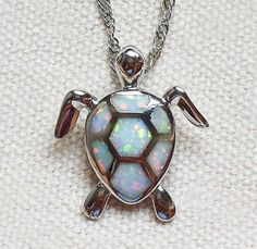 Fire Opal Sea Turtle Pendant - Luna's Warehouse - 2