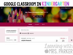 Google Classroom in Kindergarten