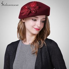 Korean Autumn Winter Hat Female British wool Beret cap with Australian Wool Bucket Hat Sweet Bucket hat FW121018
