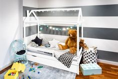 Dětská postel domeček Paul - bílá