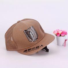Attack On Titan Survey Corps Wings Logo Cap Baseball Hat Snapback #AttackOnTitan #SurveyCorps #Wings #Logo #Cap #Baseball #Hat #Snapback