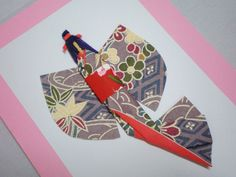 Maiko Washi Ningyo (Japanese Paper Doll) Note Greeting Card  Washi paper cards - re-Pinned by HankoDesigns.Com