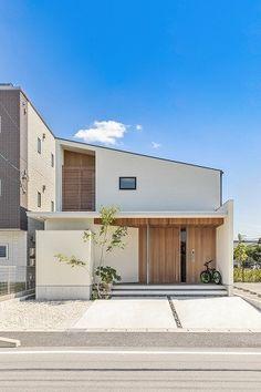 Box House Design, Small House Design, Modern House Design, Minimalist Architecture, Facade Architecture, Japanese Modern House, House Landscape, Dream House Exterior, New Home Designs