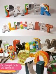 Free Printable 3D Alphabet. check our 3D and 2D alphabet at http://www.downhillpublishing.com/