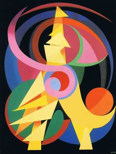 "auguste herbin︎Artist, Painting, Abstract ︎ Ventral Is Golden ""Colours are light's suffering and joy. Auguste Herbin, Art Deco Paintings, Francisco Goya, Georges Braque, Flavio, Mid Century Modern Art, Post Impressionism, Art Moderne, Art Abstrait"