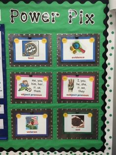 Power Pix are an effective technique from Whole Brain Teaching. This post has ideas about how to display your Power Pix as you introduce them to students. Object Pronouns, Black Construction Paper, Whole Brain Teaching, Butcher Paper, Classroom Walls, Pirate Theme, Text Me, Back To School, Display