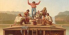 detail George Caleb Bingham The Jolly Flatboatmen