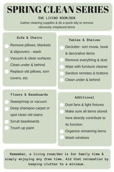 Spring Clean Series: Family Room — the decluttering handbook - Spring cleanin. - Spring Clean Series: Family Room — the decluttering handbook – Spring cleaning your family roo - Spring Cleaning Schedules, Household Cleaning Schedule, Room Cleaning Tips, Deep Cleaning Checklist, Cleaning Schedule Printable, Spring Cleaning Checklist, Speed Cleaning, Cleaning Dust, Cleaning Hacks