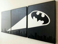 24 Trendy painting crafts on canvas for kids etsy Batman Room Decor, Deco Kids, Im Batman, Batman Art, Batman Stuff, Superman, Arte Pop, Art Projects, Kids Room