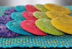 rainbow sugar cookies!