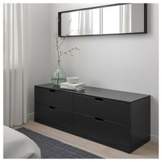 IKEA - NORDLI, dresser, anthracite, You can use one modular chest of drawers or combine several to get a storage solution that perfectly suits your space. You can easily create your own personal design by mixing chests of different colors. Modern Bedroom Furniture, Funky Furniture, Plywood Furniture, Furniture Design, Chair Design, Design Design, Malm Dresser, 8 Drawer Dresser, Nordli Ikea
