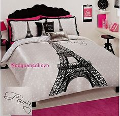 Black Eiffel Tower Paris  Satin Double/Full Quilt Cover Set New | Home & Garden, Bedding, Quilt Covers | eBay!