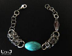 """Bracelet kOH pHANGAN de la """"Collection Thaïlande"""" de L'or J en cotte de mailles et une perle motif corail : Bracelet par lorj"""
