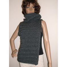 Huntress Cross Body Cowl Scarf Harness Vest Scarf Archers Sweater... ($137) ❤…