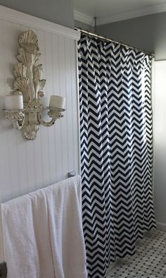 50 x 78 Shower Stall Curtain in a Fabric You by LaFortuneLinens, $62.50