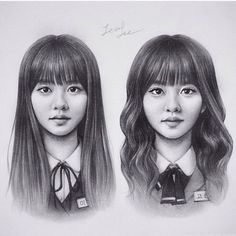 The Life of a Korean Drama Addict Korean Actresses, Korean Actors, Actors & Actresses, Kdrama, Who Are You School 2015, Kim Sohyun, Korean Painting, Kim Yoo Jung, Kpop Drawings