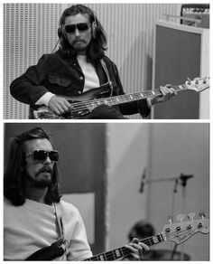 Playing a Fender Jazz bass in studio during the Abbey Road sessions Liverpool, Les Beatles, Pop Rock, Blues, The Fab Four, Abbey Road, Rock Legends, Ringo Starr, Music Photo