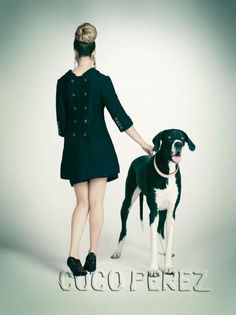 Lady with great dane