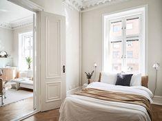my scandinavian home: A Swedish Small Space in Cream and Caramel Tones #bedroom #neutrals #scandinavianhome