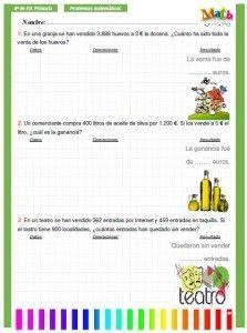 Problemas para primer grado.   aprender   Pinterest   Math ...