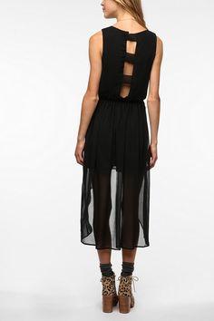 Chiffon Open Back High/Low Dress  #UrbanOutfitters