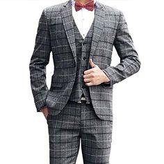 Herrenbekleidung & Zubehör Anzüge & Blazer 2017 Bräutigam Smoking Schokolade Zweireiher Hochzeit Abendessen Bräutigam Männer Anzüge Best Man Bräutigam Männer Anzug jacke + Pants + Tie + Vest