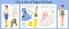 Many different free printables of vintage paper dolls (Betsy McCall, Ginghams, Strawberry Shortcake)